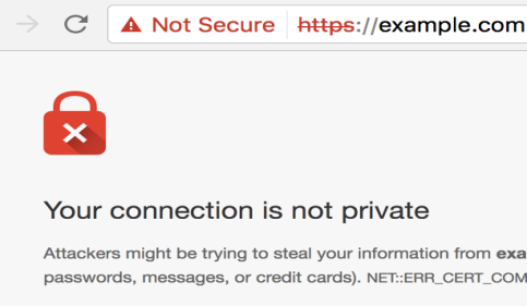 SSL Your Connection is nor private