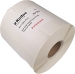 Thermal Direct Label  2 Across Permanent  35x25  Roll of 2,000-rolls---2-across-Kudos Solutions Limited