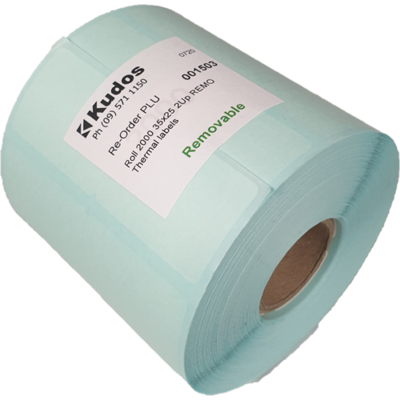 Thermal Direct Label  2 Across Removable  35x25  Roll of 2,000