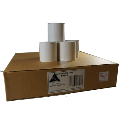 Thermal POS Receipt Rolls - Carton of 25